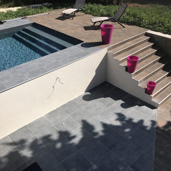 Extension avec piscine